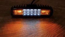 Sárga villogó / munkalámpa, 10+6 LED-es (12-80V)