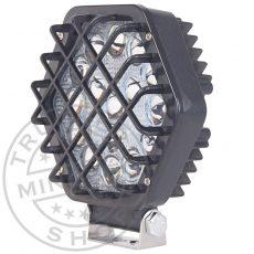 Munkalámpa 16 LED-es hatszögletű + védőrács