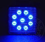 Munkalámpa 9 LED-es (110x110mm) KÉK FÉNY