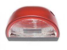 Rendszám megvilágítás piros (félkör)