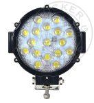 LED fényszóró 17LED 12/24V Fekete