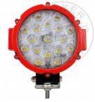 LED fényszóró 17LED 12/24V Piros