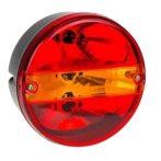 Kör hátsó lámpa 3 funkciós BAL+rendszám (kristály)