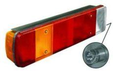 Hátsó lámpa 7 kamrás kerekített BAL +csatlakozó