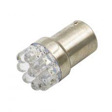 LED IZZÓ 12V BA15s 5 LED FEHÉR 5-10W