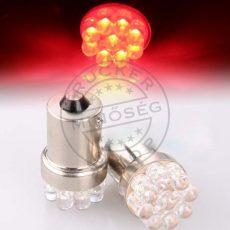 LED IZZÓ 12V BA15s 9 LED PIROS 5-10W
