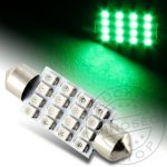 LED IZZÓ 12V SZOFITA 16 smd LED 31mm ZÖLD