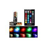 Távirányítós RGB LED belső világítás szett 12V