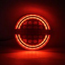 FULL LED hátsó lámpa kerek 12/24V RING