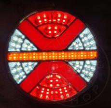 Kerek LED hátsó lámpa X design 24V