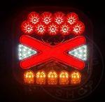 Kocka LED hátsó lámpa X design 24V