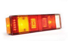LED hátsó lámpa 7 kamrás bal 12/24V