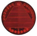 LED hátsó lámpa kör háromszög prizmával 12/24V Dasteri