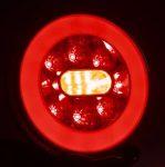LED hátsó lámpa kör 3 funkciós ÚJ 12-36V