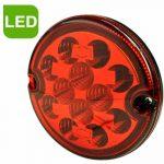 LED lámpa kerek ködlámpa 12/24V csatlakozós