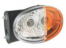 Index+fehér helyzetjelző lámpa ovál tartóval