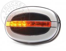 FULL LED első lámpa OVÁLIS 12/24V DINAMIKUS